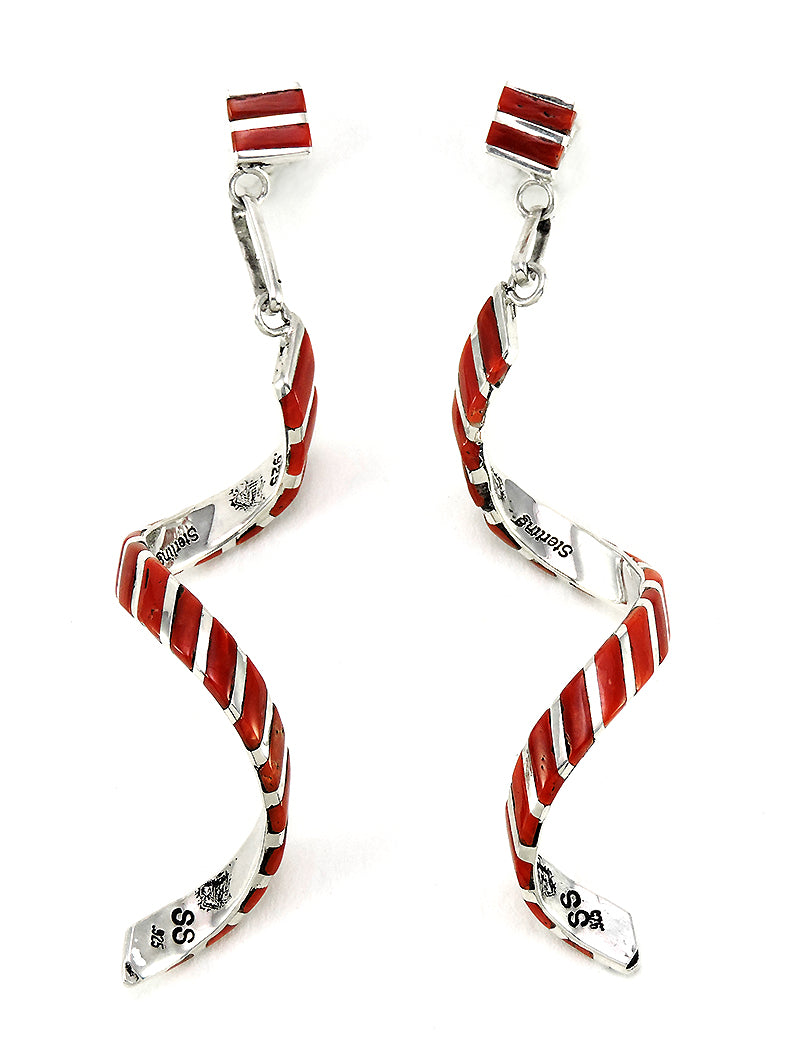 Red Coral Celebration Earrings