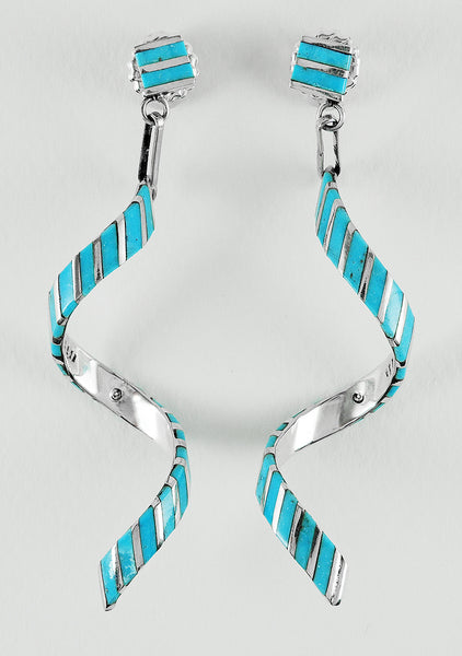 Sterling Silver & Sonoran Turquoise Earrings