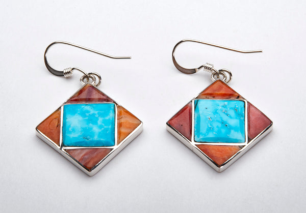 Spiny Oyster Shell & Turquoise Earrings