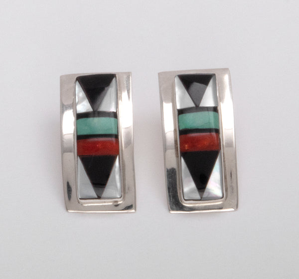 Gorgeous Geometric Inlaid Earrings