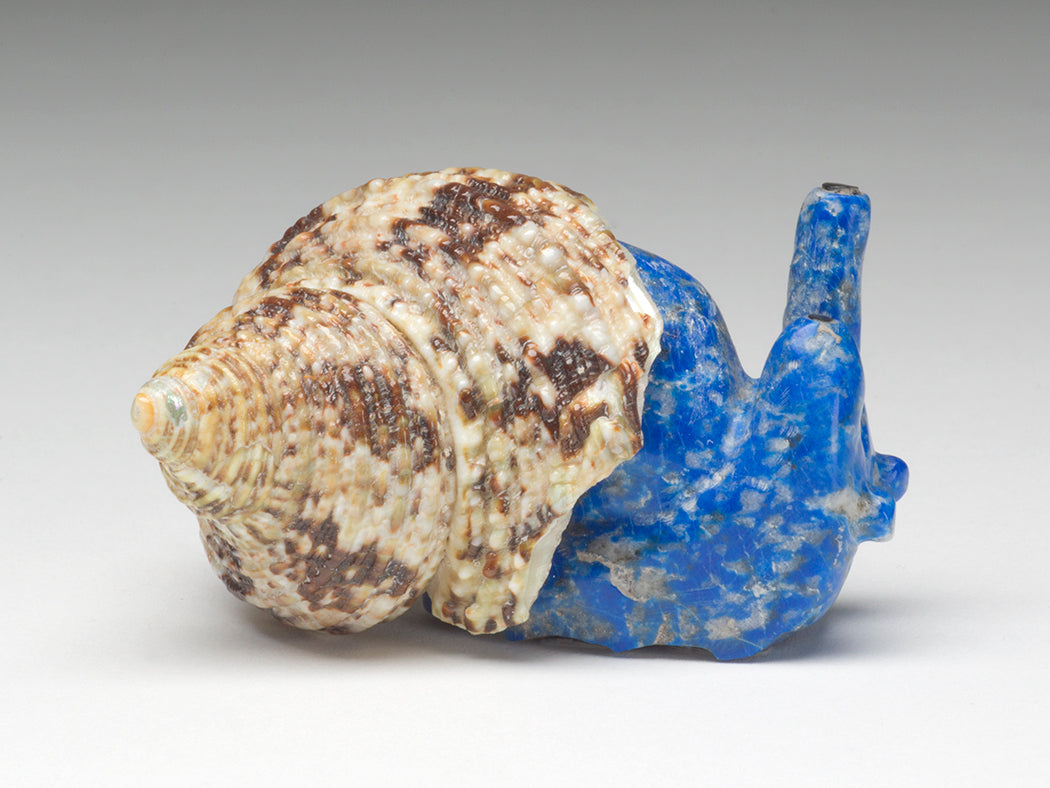 A Lapis Lazuli Snail With A Sea Shell Home