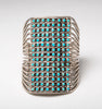 Petit Point Statement Cuff Bracelet