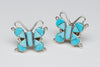 Sleeping Beauty Turquoise Butterfly Earrings