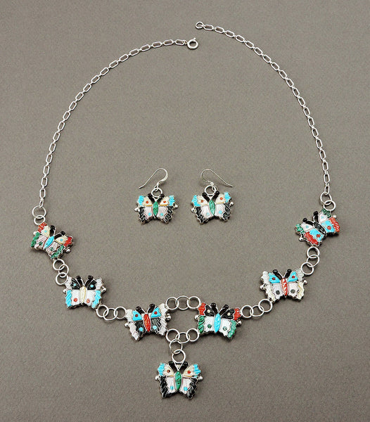 Glorious Butterfly Necklace & Earrings Set