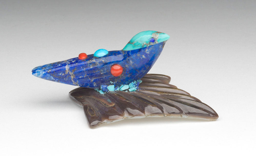 Lapis Lazuli, Sleeping Beauty Turquoise, Red Coral & Spiderweb Turquoise Bird On Leaf
