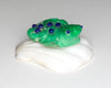 High-Grade Variscite Amphibian On The Half Shell