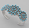 Rosette Petit Point Bracelet with Sleeping Beauty Turquoise