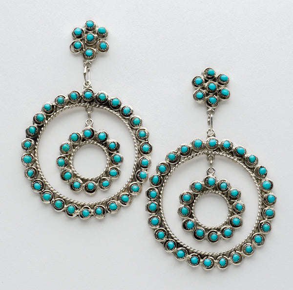 Petit Point Turquoise Earrings