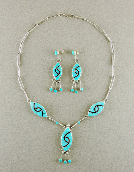 Turquoise Hummingbird Necklace and Earring Set