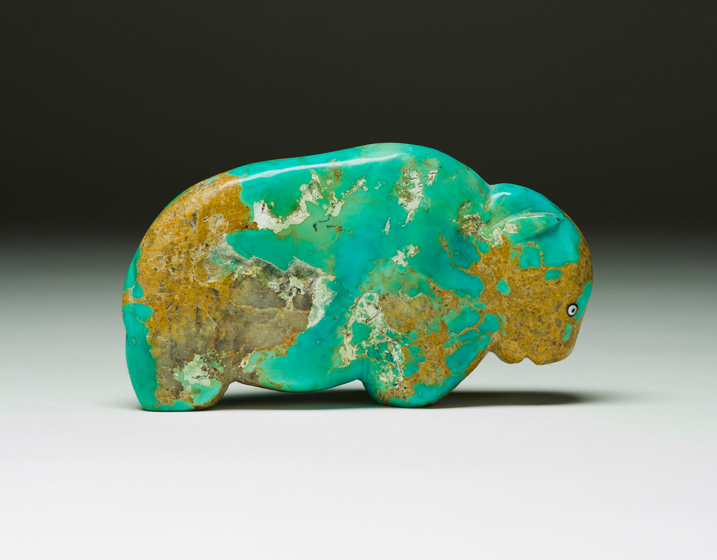 Large Turquoise Bison From Long Ago, With Honor