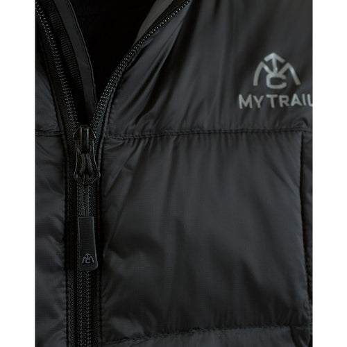 light down jacket front zipper with internal storm flap