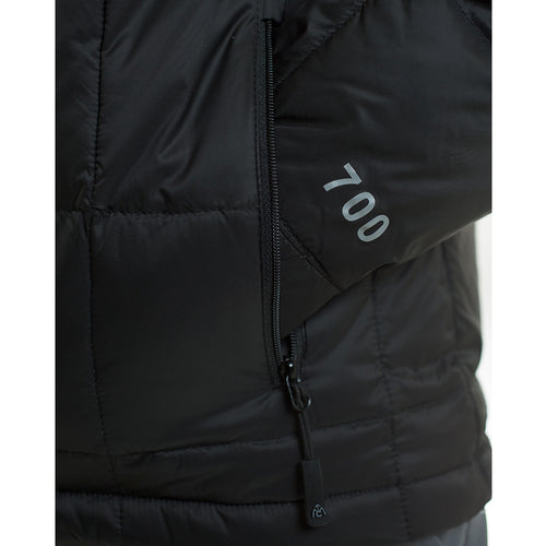 Down jacket zippered hand pocket