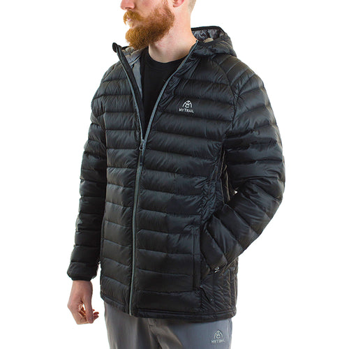 Ultralight Hooded Down Jacket front, Black
