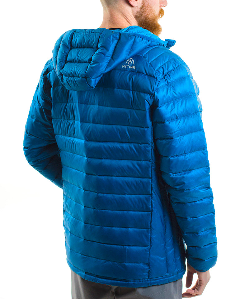 Men's 800 Fill Ultralight Hooded Down Jacket back