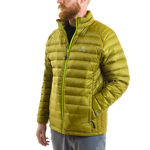 Ultralight Down Jacket front, Golden Moss