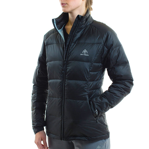 Light Down Jacket front, Black
