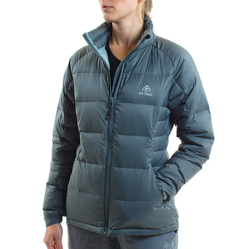 Light Down Jacket front, Granite Grey