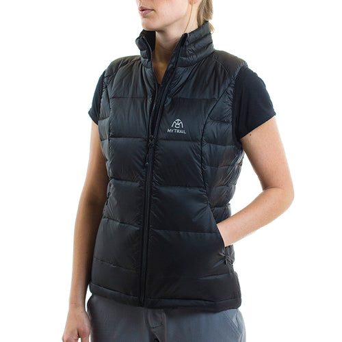 Light Down Vest front, Black