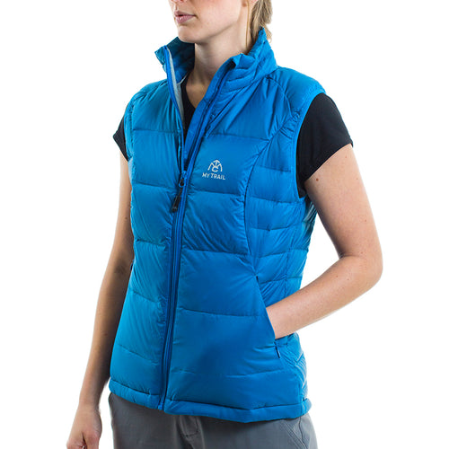 Women's 700 Fill Light Down Vest mykonos blue