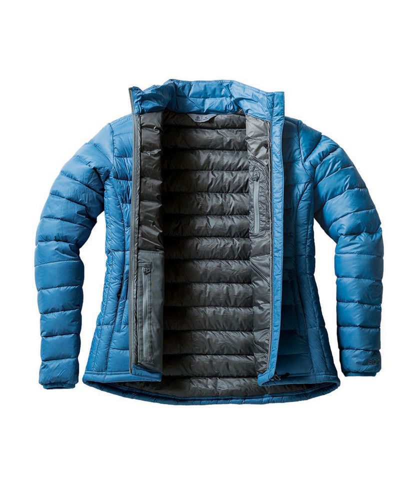 Down Light Jacket inside blue