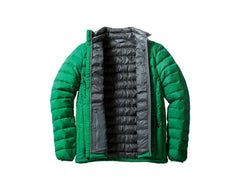 Down Light Jacket inside green