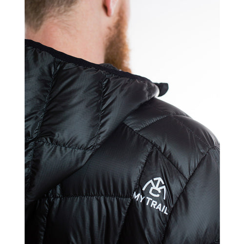 Men's 850 Fill HL Hooded Down Jacket hood and logo