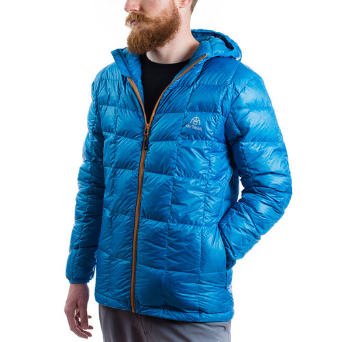 Men's 850 Fill HL Hooded Down Jacket mediterranean blue