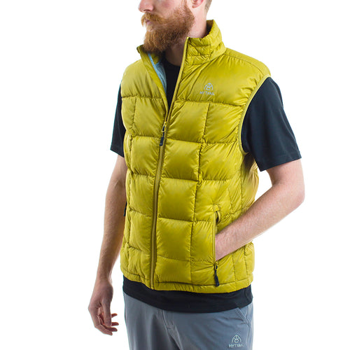 Light Down Vest front, Golden Moss