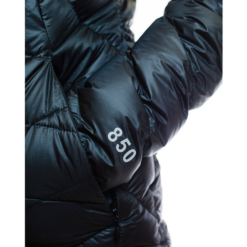 Women's 850 Fill HL Hooded Down Jacket pocket and sleeve