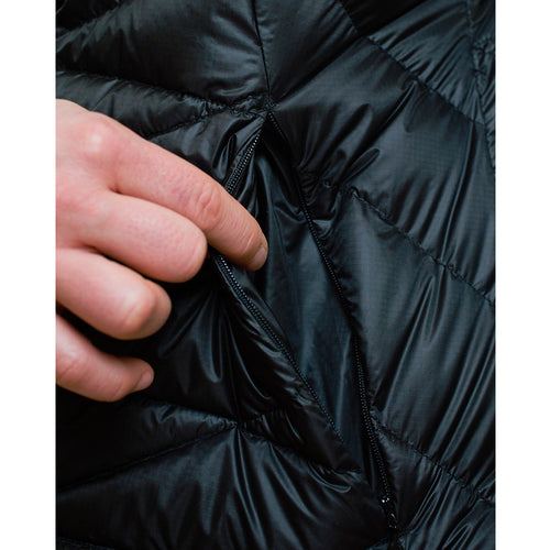 Women's 850 Fill HL Hooded Down Jacket small exterior pocket