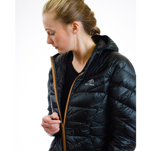 Women's 850 Fill HL Hooded Down Jacket zipper