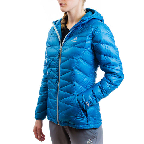 Women's 850 Fill HL Hooded Down Jacket Mediterranean Blue
