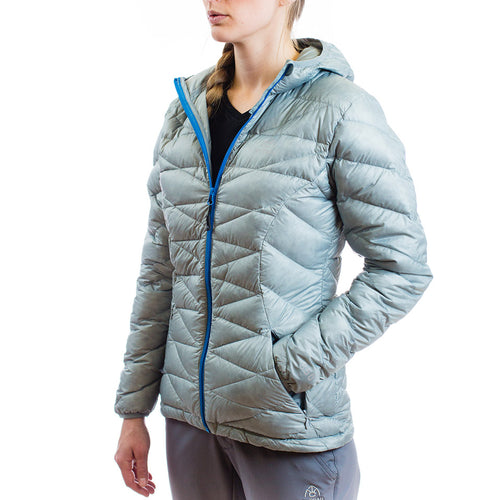 Women's 850 Fill HL Hooded Down Jacket Granite Gray