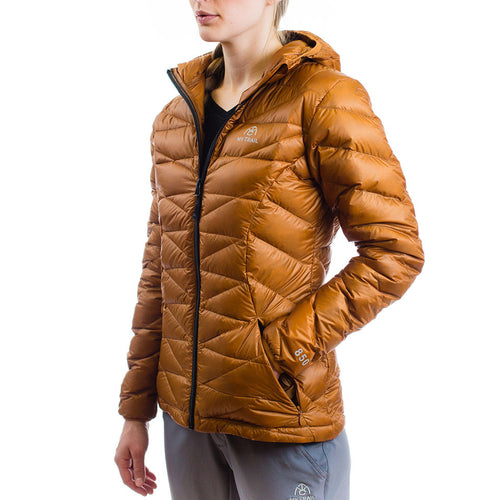 Women's 850 Fill HL Hooded Down Jacket Pumpkin Spice