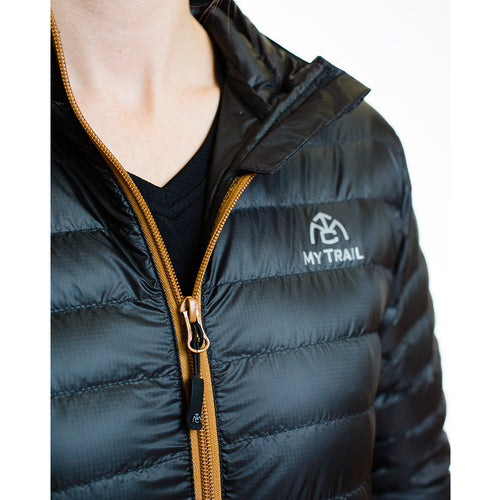 Women's 850 Fill HL Down Jacket zipper closeup