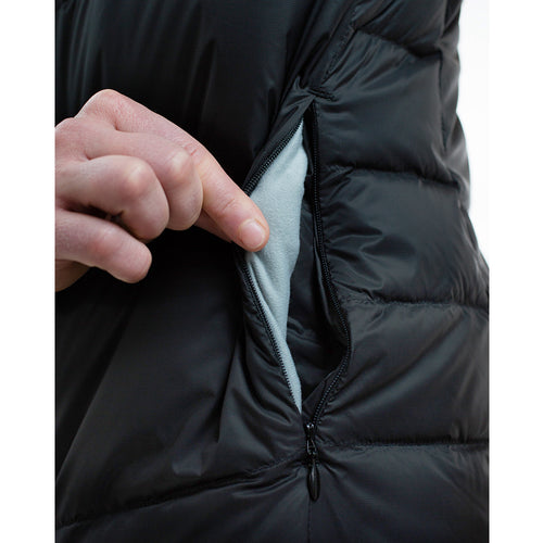 Zippered microfleece lined hand warmer pockets