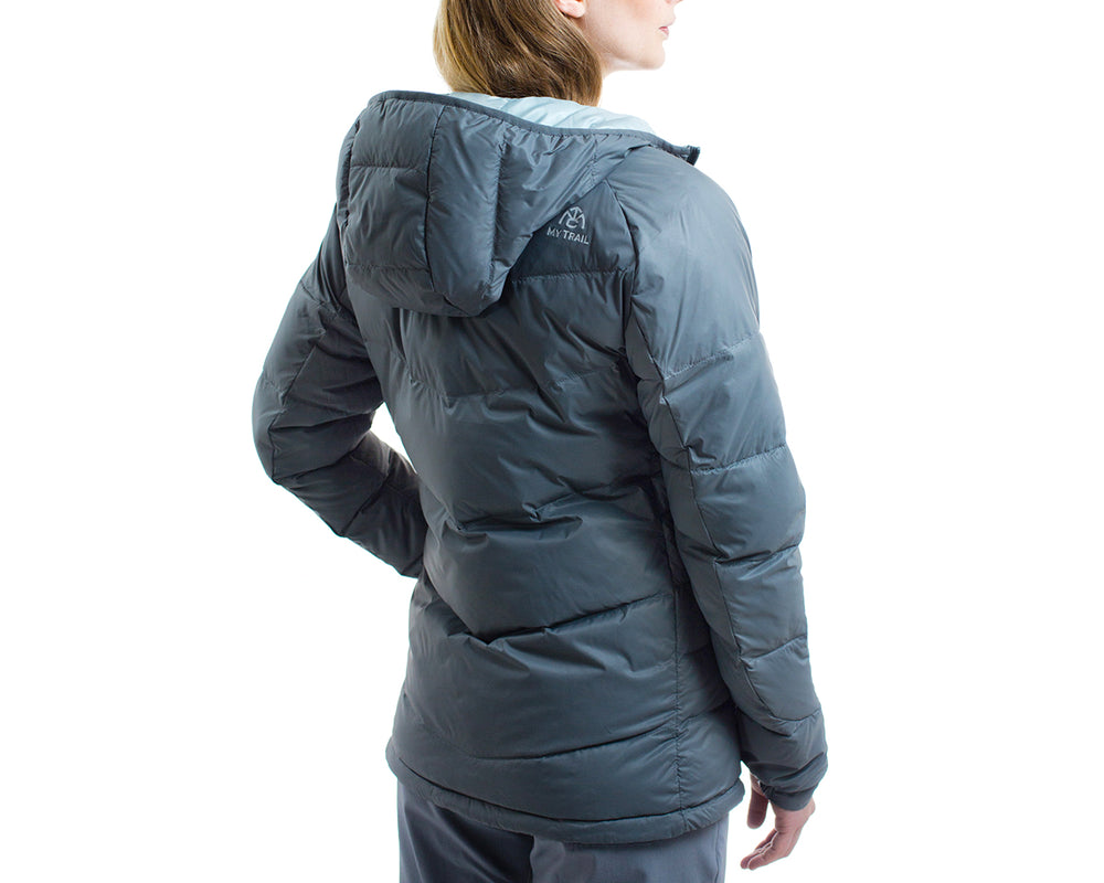 Womens 700 Fill Light Down Hooded Jacket Rear