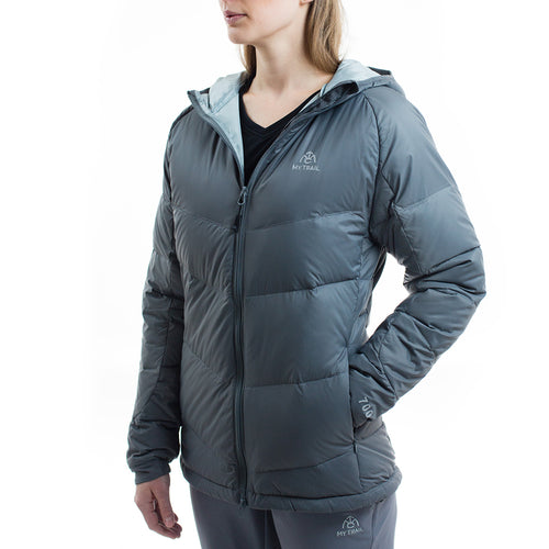Women's 700 Fill Light Down Hooded Jacket granite gray