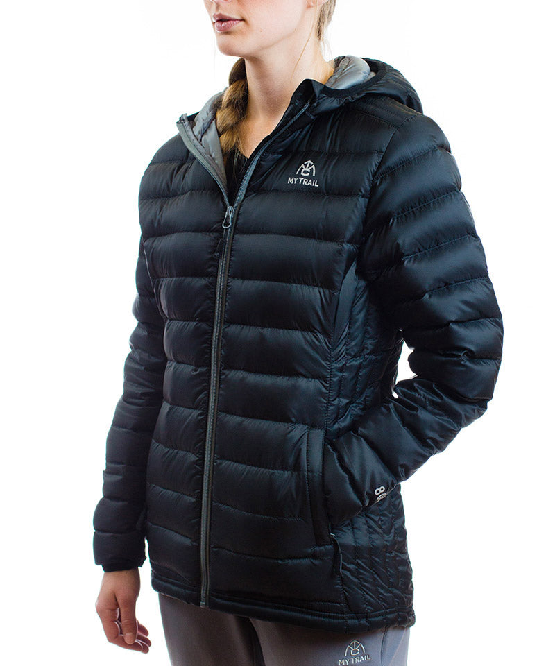 Women's 800 Fill Ultralight Hooded Down Jacket Black