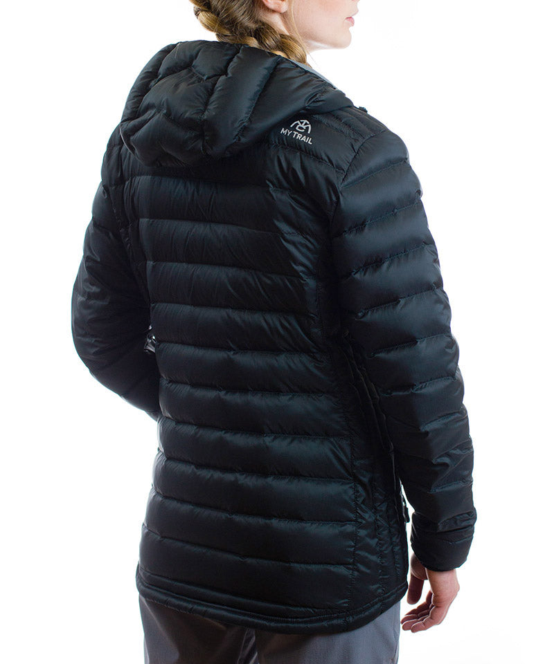 Women's 800 Fill Ultralight Hooded Down Jacket Back