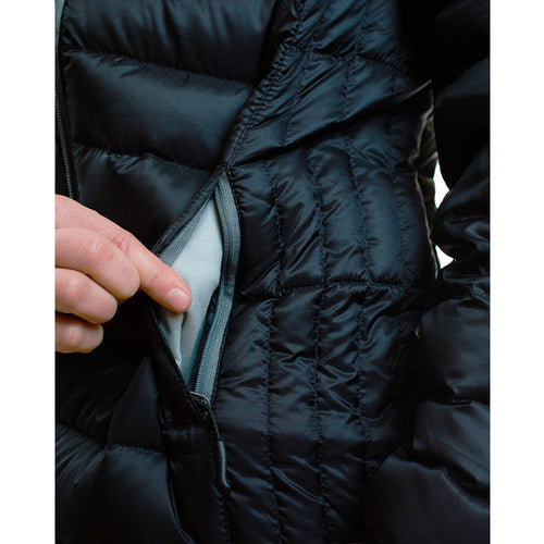 Women's 800 Fill Ultralight Hooded Down Jacket exterior small pocket