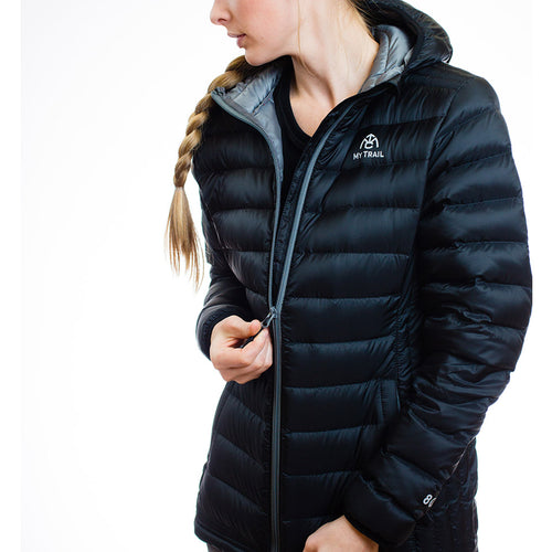 Women's 800 Fill Ultralight Hooded Down Jacket zipper front
