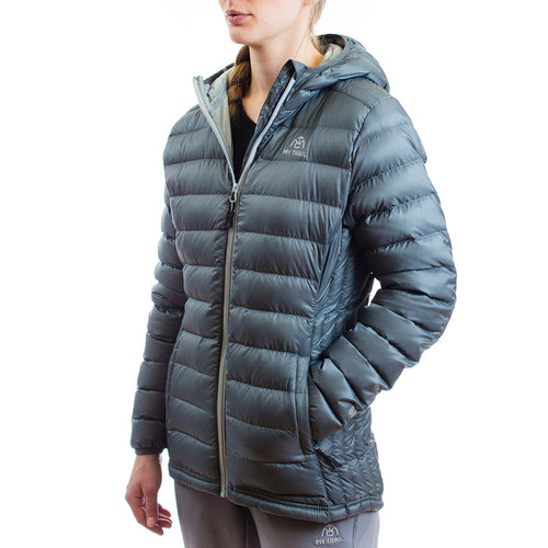 Women's 800 Fill Ultralight Hooded Down Jacket Granite Gray