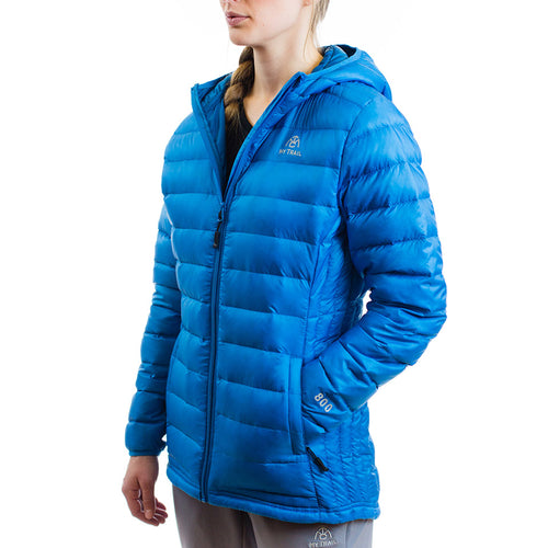 Women's 800 Fill Ultralight Hooded Down Jacket Mediterranean Blue