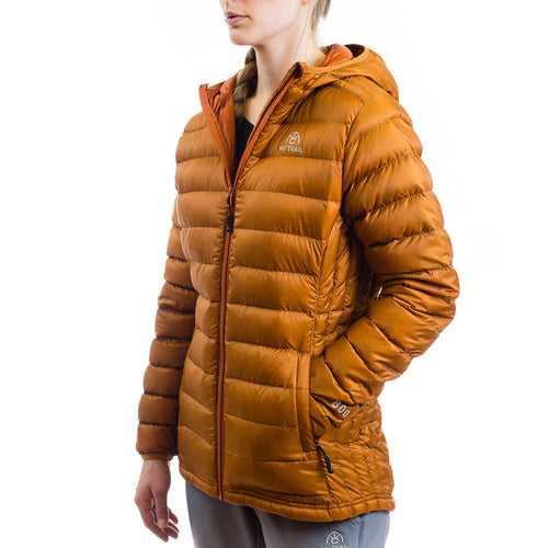 Women's 800 Fill Ultralight Hooded Down Jacket Pumpkin Spice
