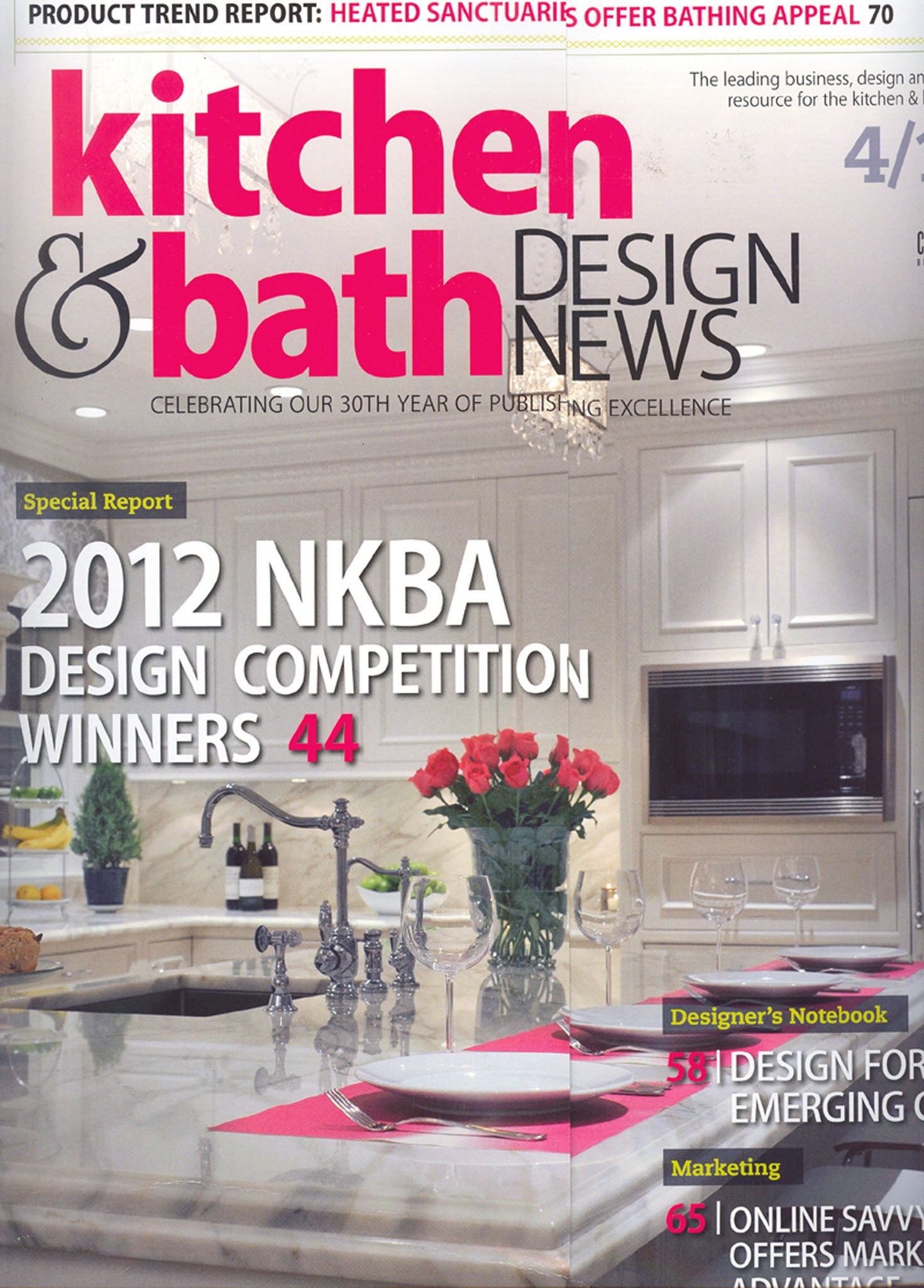 Kitchen & Bath Design News April 2012 – Stone Forest