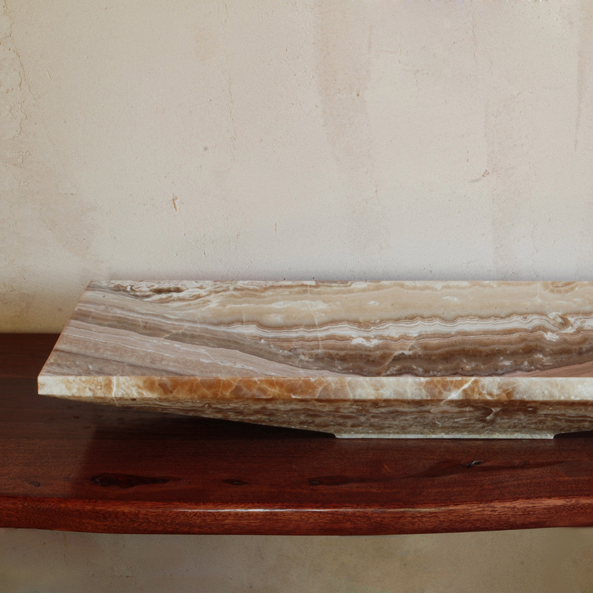 "Verona Vessel, 36"", Onyx Travertine"