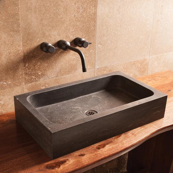 Milano Sink - Antique Gray Limestone