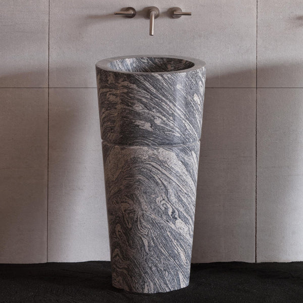 Superb Veneto Pedestal Sink   Cumulo Granite