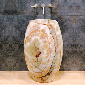 Barrel Pedestal Sink